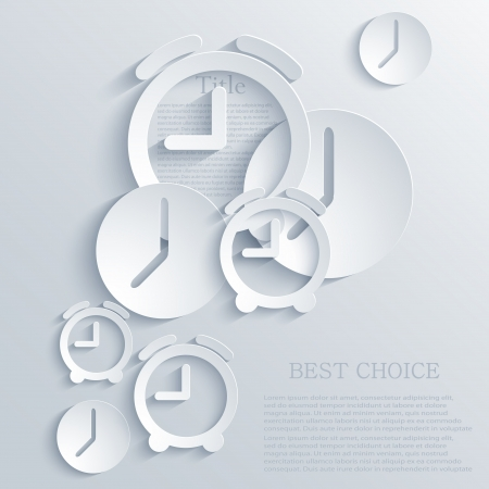 time icon background.