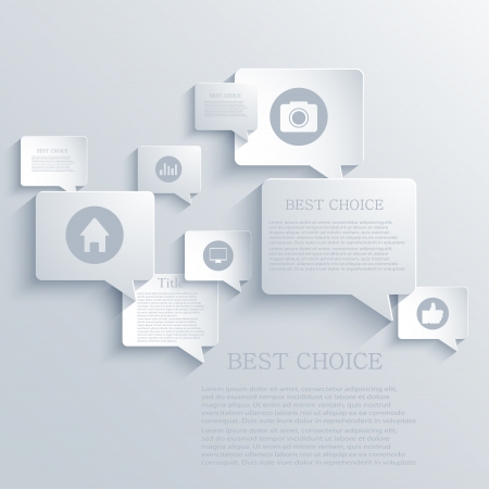 Vector bubble speech background. Eps10 Illustration