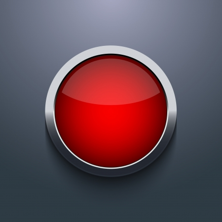glass button: Vector web button design on gray background. Eps10 Illustration