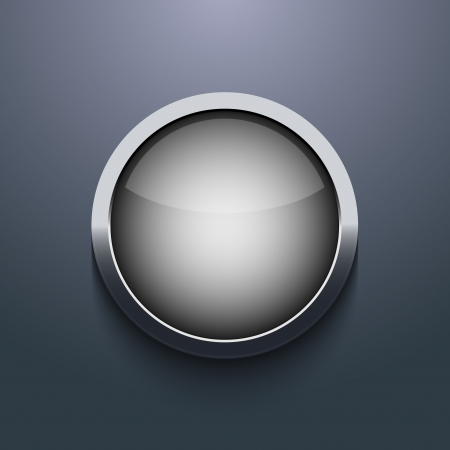 Vector web button design on gray background. Eps10 Illustration