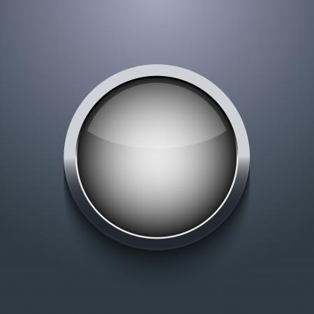 Vector web button design on gray background. Eps10 Illustration