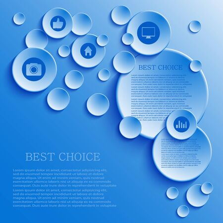 Vector infographic background design. Eps10 Vector