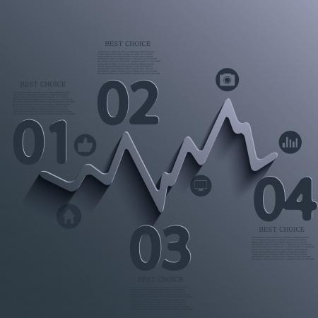 Vector infographic ontwerp. Eps10 Stock Illustratie