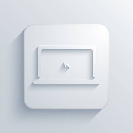 Vector light square icon. Eps10 Vector
