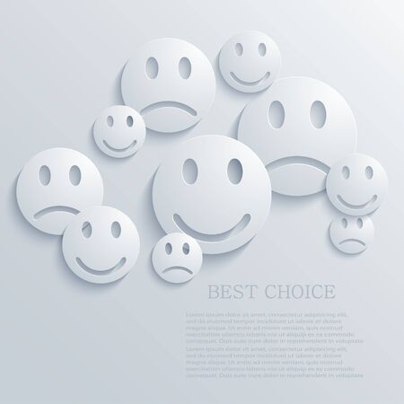 happy face: Vector creative background. Eps10
