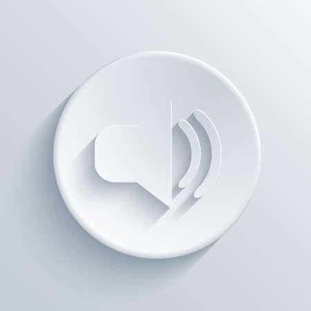 Vector light circle icon. Eps10 Vector