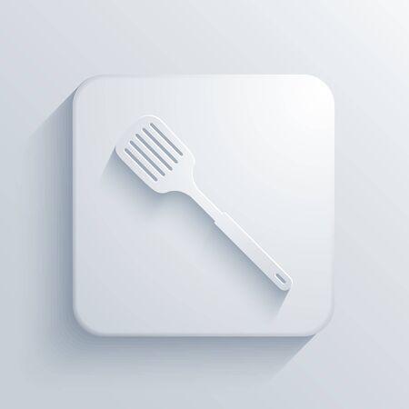 heatproof: Vector light square icon. Eps10
