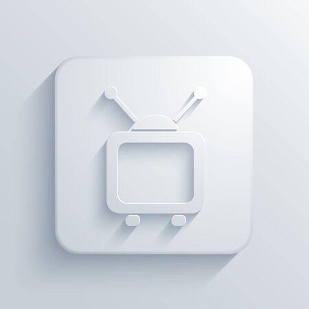 Vector light square icon. Eps10 Vector