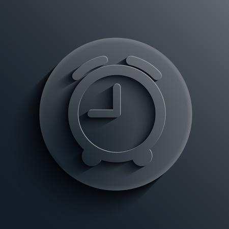 dark circle icon.  Vector