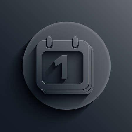 dark circle icon. Stock Vector - 19863235