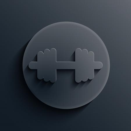 dark circle icon. Stock Vector - 19863146