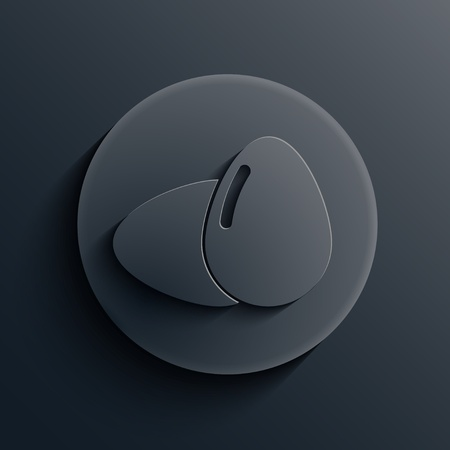 dark circle icon.  Vector