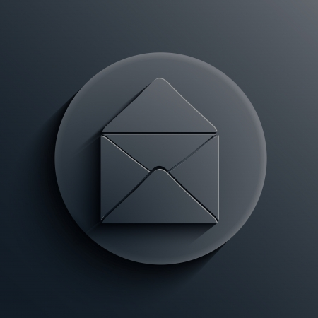 email us: dark circle icon.