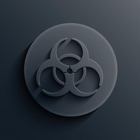 biological warfare: dark circle icon.