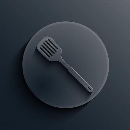 heatproof: dark circle icon.