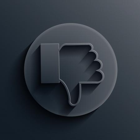 dark circle icon. Stock Vector - 19862822