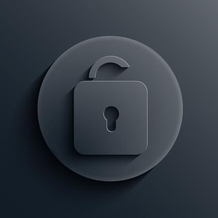 dark circle icon. Stock Vector - 19862945