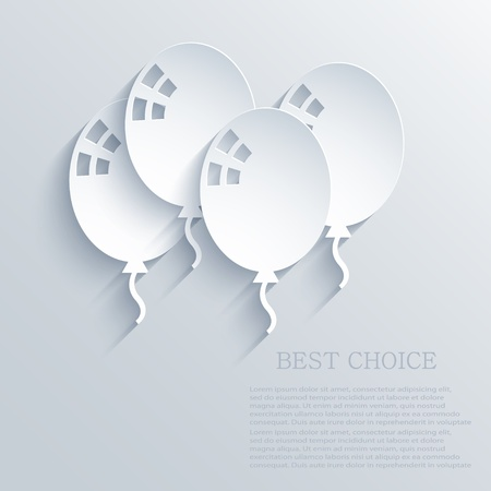 balloons background.  Vector
