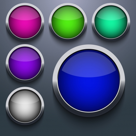 web button set design on gray background.  Vector