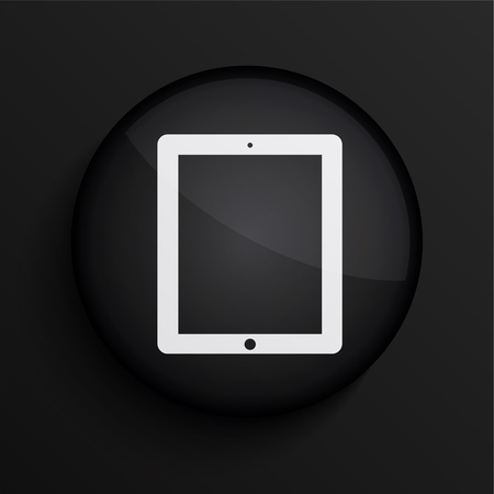 black circle icon.  Vector