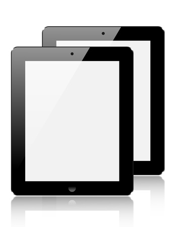 realistic computer tablet isolated on white background. Stock Vector - 20574479