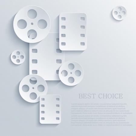Film-Symbol Hintergrund. Standard-Bild - 20574534