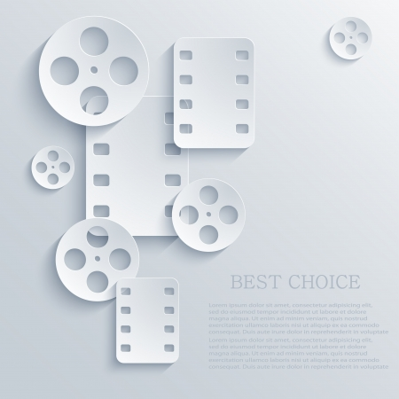 videofilm: Film-Symbol Hintergrund.