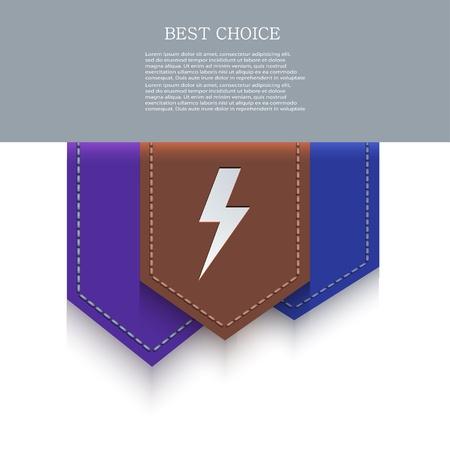 bookmark icon.  Stock Vector - 20574677