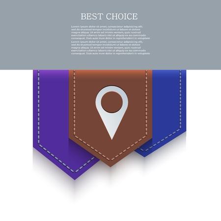 bookmark icon. Vector