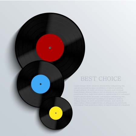 Old vinyl record background.  Vector