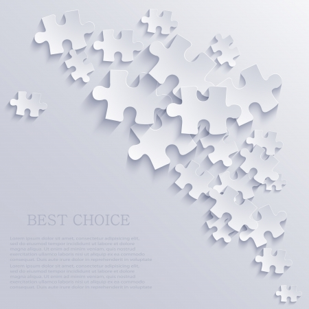 puzzle background. Vector