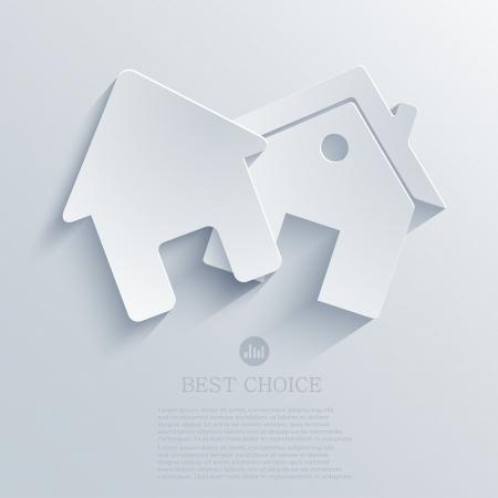 不動産のアイコンの背景。  イラスト・ベクター素材