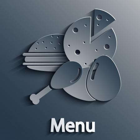 pizza place: food modern background. Illustration