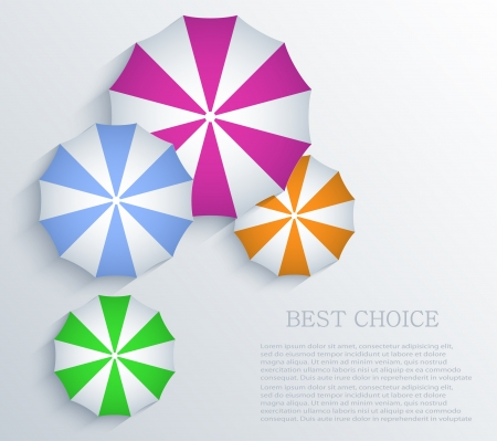creative umbrella background.  Vector