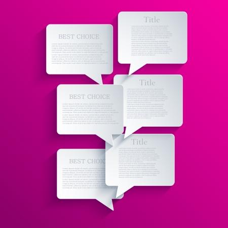 Vector bubble speech background. Vector