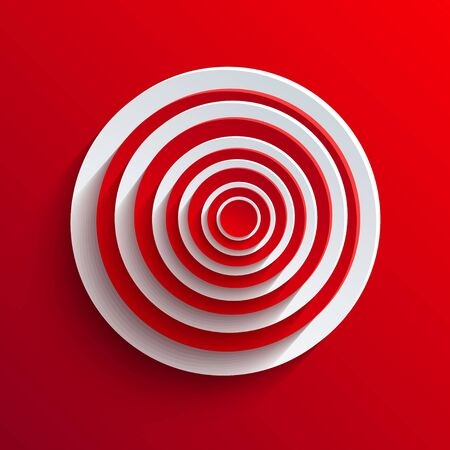 Vector circle abstract background. Vector