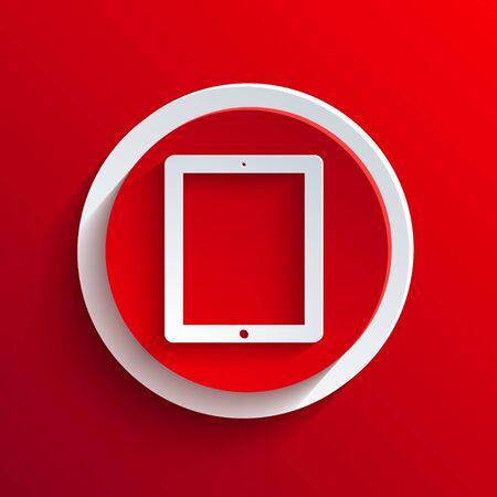 Vector red circle icon. Stock Vector - 21377226