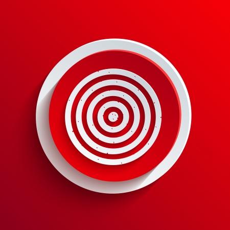 Vector red circle icon.  Vector