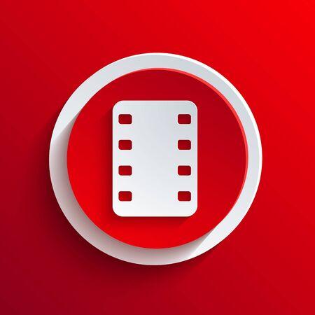 Vector red circle icon. Stock Vector - 21377270