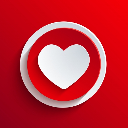 favorite colour: Vector red circle icon.
