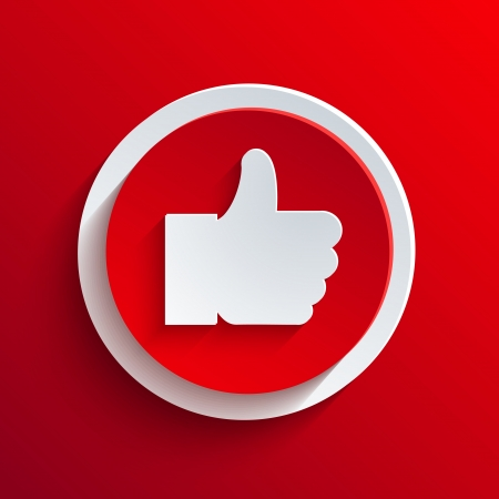 yes no: Vector red circle icon.