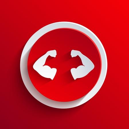 Vector icône rouge de cercle. Banque d'images - 21377393