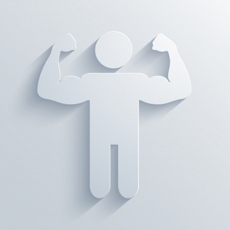Vector Muscled Body background.  Vector