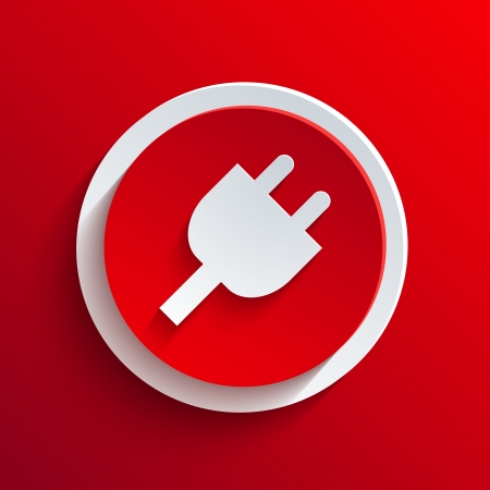 Vector red circle icon.  Stock Vector - 21377436