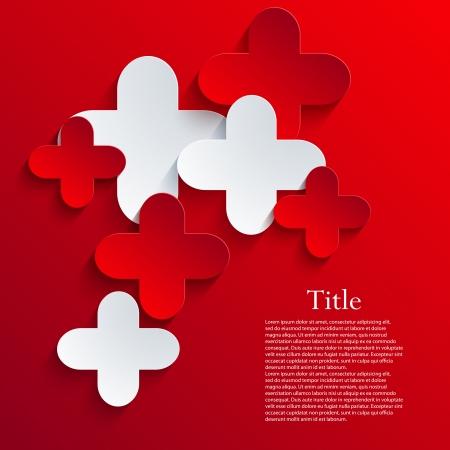cruz roja: Resumen de vectores de fondo.