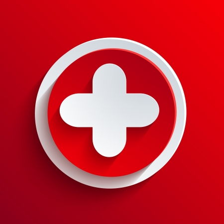 Vector red circle icon.  Stock Vector - 21377438