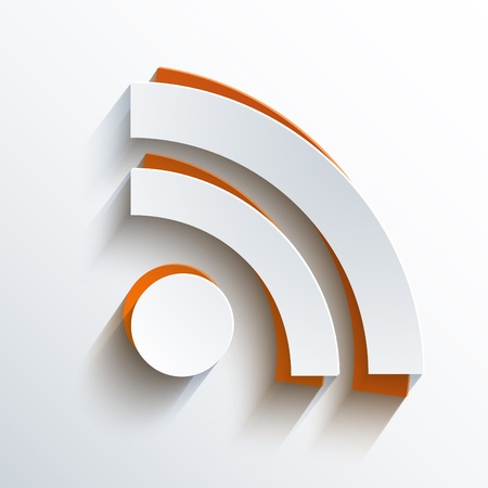 syndication: Vector rss background.  Illustration