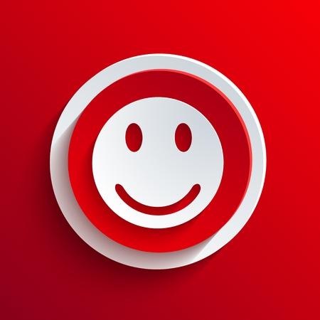 cara triste: Rojo del vector del icono del c�rculo.