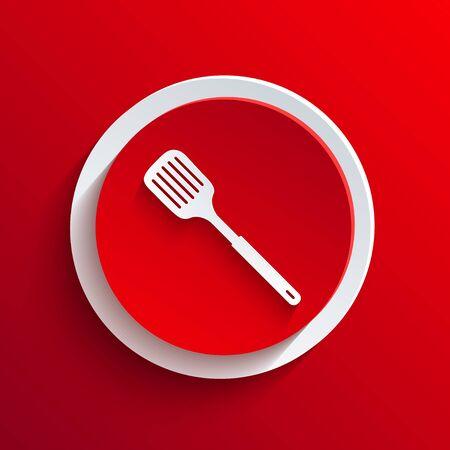 heatproof: Vector red circle icon.