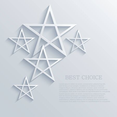 Vector star background design. Vector